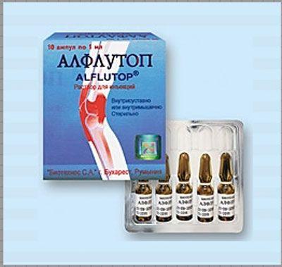 Упаковка алфлутопа в ампулах