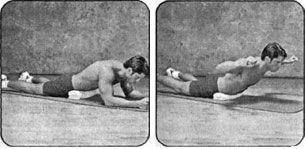 Упражнение с валиком при лордозе