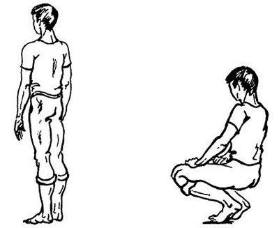 Упражнение-приседание с ровной спиной без опоры