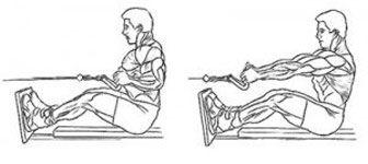 Тяга блока к поясу для укрепления мышц спины