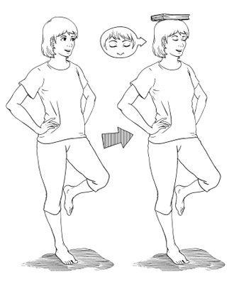 Упражнене на тренировку равновесия