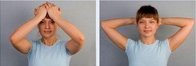 Упражнение на укрепление мышц шеи при цервикоартрозе