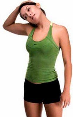 Упражнение на растяжение мышц шейного отдела при цервикоартрозе