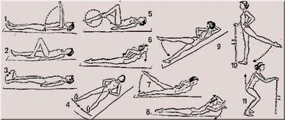 Основные упражнения в лечебной гимнастике при остеопорозе позвоночника