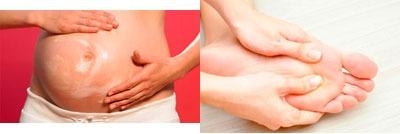Самомассаж живота и стоп для беременных