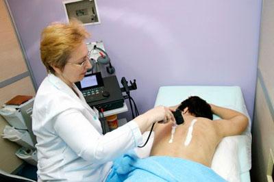 Лечение ультразвуком шейного отдела позвоночника