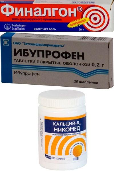 Лекарства для лечения болезни Осгуда-Шлаттера