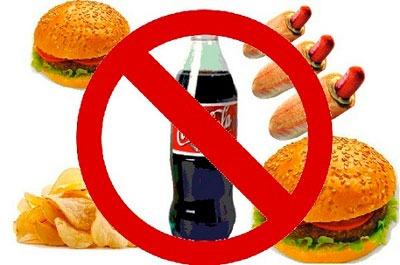 Вред от жирной пищи