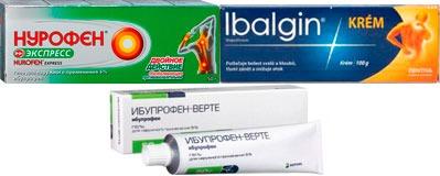 Аналоги геля и кремя Долгит с действующим веществом ибупрофен