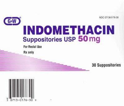 Препарат Индометацин в форме свечей против боли и воспаления