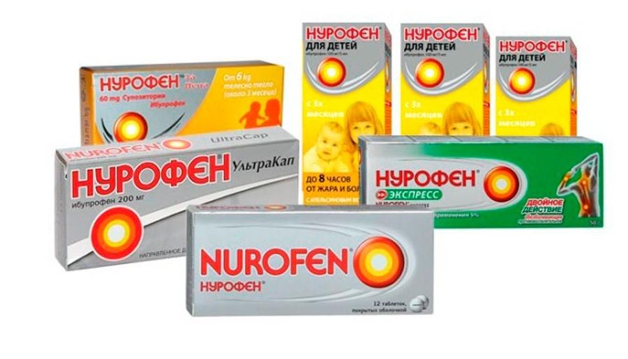 Применение нурофена в таблетках