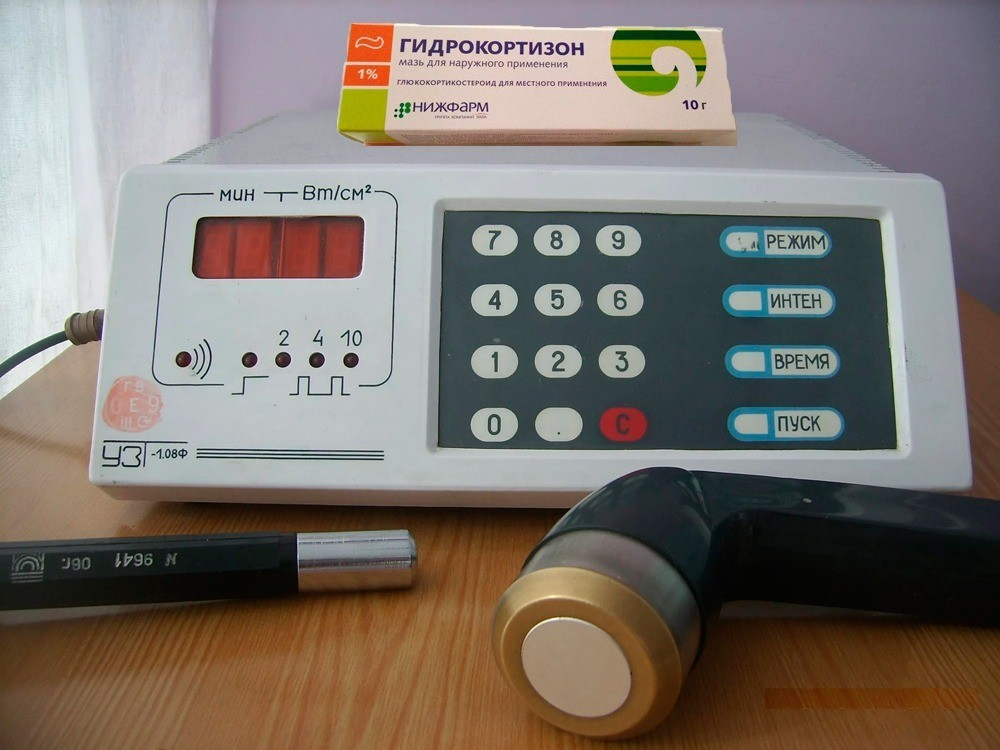 Побочные действия ультразвука с гидрокортизоном